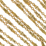 Victorian Gold-Filled Open Wirework Link Muff Chain Necklace 57