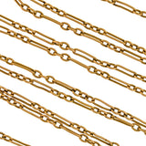 Victorian Gold-Filled Open Link Watch Chain 55