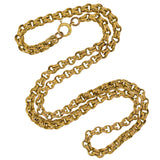 Victorian Gold-Filled Double Ring Link Chain Necklace 31
