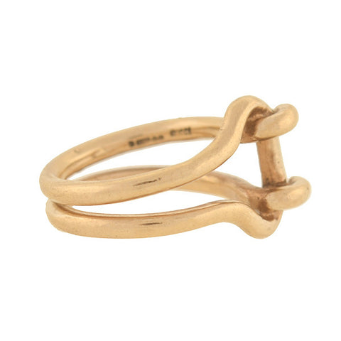 GUCCI Vintage 9kt Gold Wire Ring