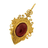 Victorian 15kt Gold Cabochon Garnet Earrings
