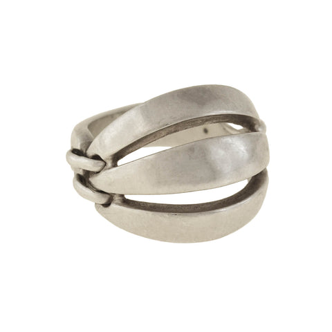 "GEORG JENSEN Vintage Sterling Silver ""Melon"" Ring No. 427"