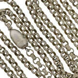 Georgian Rare Long Silver Chain with Acorn Clasp 60