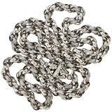 Georgian Sterling Silver Handmade Textured Link Chain Necklace 38