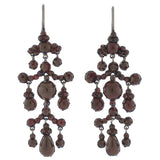 Victorian Gilded Bohemian Garnet Earrings