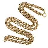 Victorian Sterling Gilt Fancy Link Chain Necklace 28