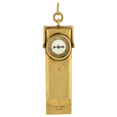 Victorian 14kt Gold Compass/Whistle Fob Pendant