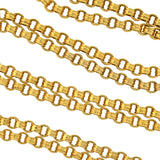 Victorian Gold-Filled Beveled Link Chain 35