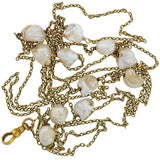 Victorian 14kt Mississippi River Pearl Chain Necklace 49