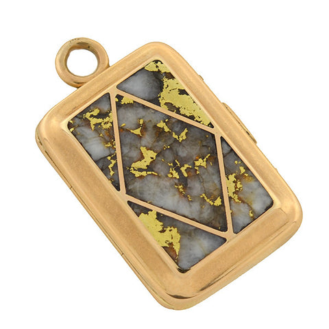 Victorian 18kt & Gold Quartz Rectangular Locket