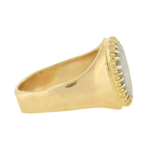 Late Victorian 14kt Gold Quartz Ring