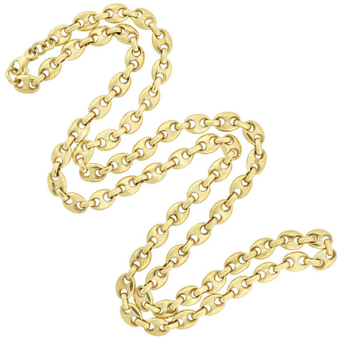 "Vintage 18kt Anchor Link ""Gucci Style"" Chain Necklace 23"""