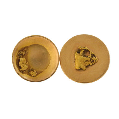Victorian 18kt Gold Mining Pan + Genuine Gold Nugget Cufflinks