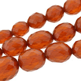Art Deco Faceted Amber Bead Long Necklace 38
