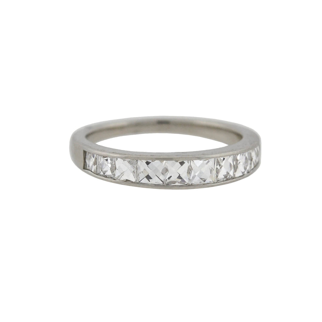 Estate Platinum French Cut Diamond Half Band 1.25ctw