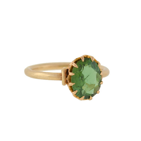 Victorian 14kt Green Tourmaline Ring