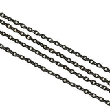 Victorian Long Gunmetal Chain 60