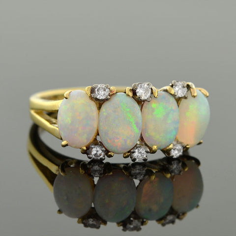 H. STERN Vintage 18kt Opal & Diamond Ring