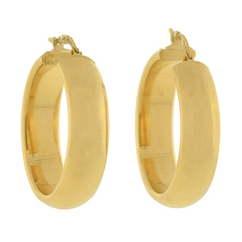 MILOR Estate Italian 14kt Gold Wide Hoop Earrings