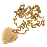 Victorian Gold-Filled Diamond Heart Locket & Chain