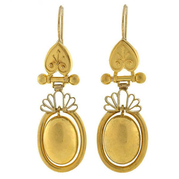 Victorian 15kt Gold Dangling Earrings