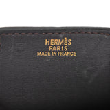 HERMÈS Estate Gold-Tone Wide Brown Leather Wrap Bracelet