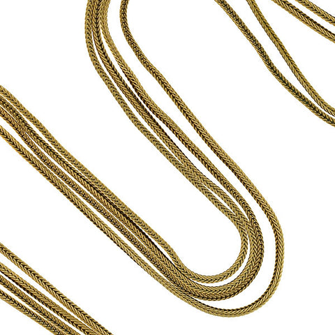 Victorian Gold-Filled Foxtail Chain Necklace 60""