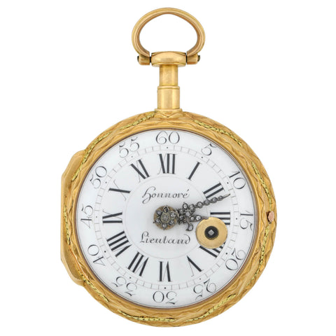 HONNORE LIEUTAUD of MARSEILLE Georgian 18kt Diamond Pocket Watch