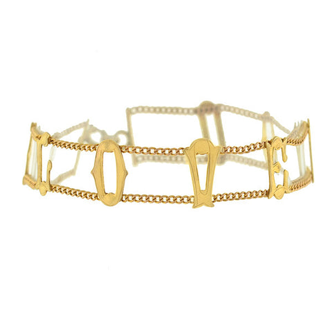 "Vintage 9kt Gold ""I LOVE YOU"" Bracelet"