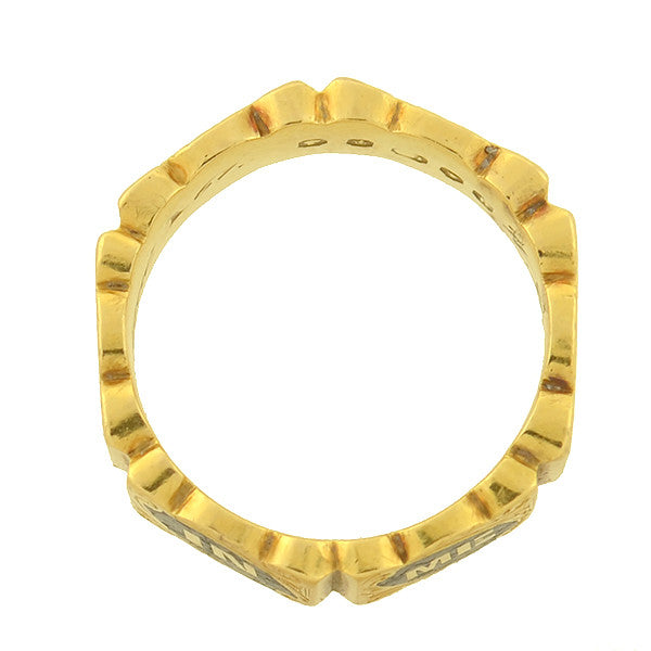 Kt Yellow Gold Mourning Ring