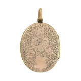 Victorian 9kt Enameled Memoriam Locket