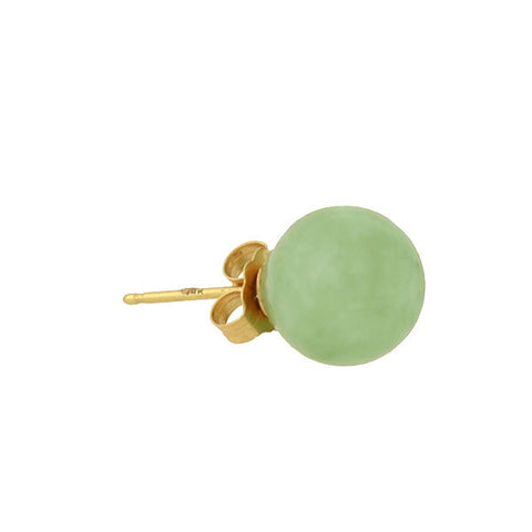 Estate 14kt Jade Ball Stud Earrings