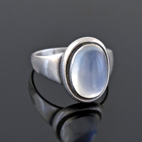 GEORG JENSEN Early Retro Sterling Moonstone Ring No. 46B