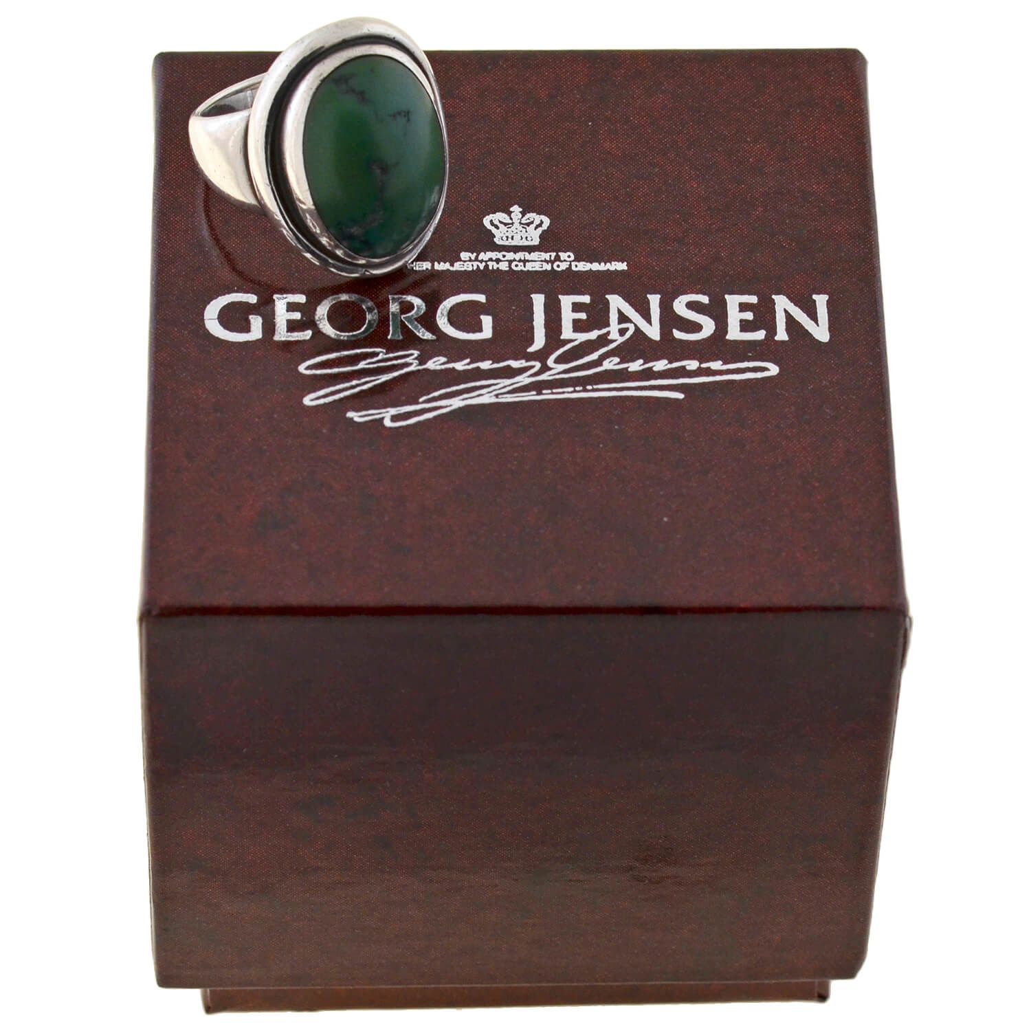 GEORGE JENSEN Early Retro Sterling Turquoise Ring No. 46A