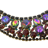 JULIANA Style Vintage Large Multi-Crystal Bib Necklace