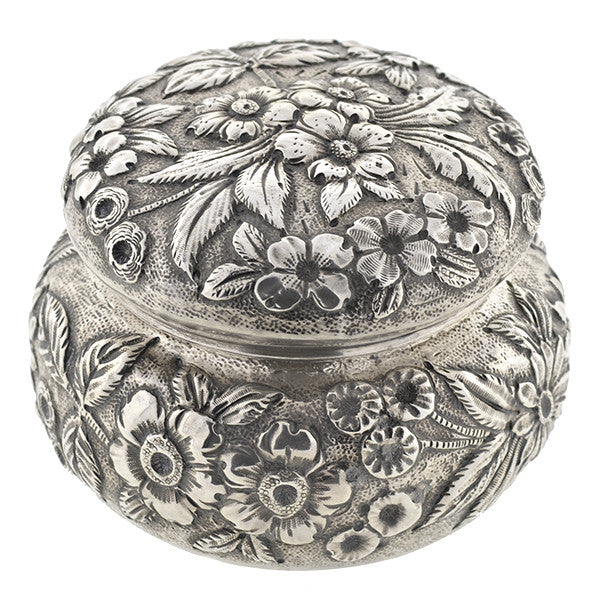 S.KIRK & SON Victorian Sterling Floral Repousse Box