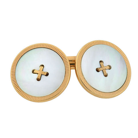 KREMENTZ Victorian Mother of Pearl Button Cufflinks