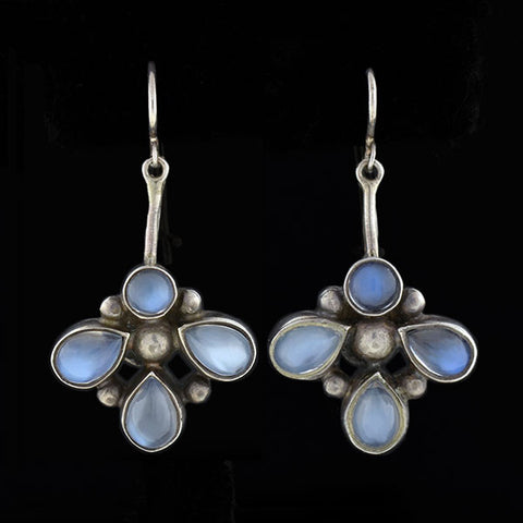 KALO Arts & Crafts Sterling Moonstone Earrings