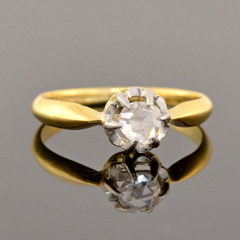 Edwardian 18kt/Platinum Rose Cut Diamond Ring 0.30ct