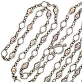 CHARLES KRYPELL Sterling Fresh Water Pearl Necklace 80