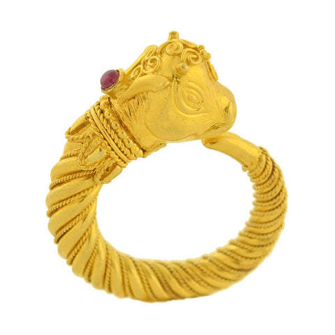 LALAOUNIS Estate 22kt Mythical Animal Head Ring