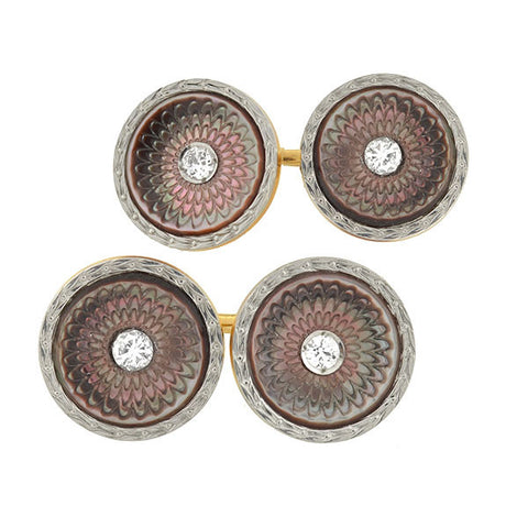 LARTER & SONS Edwardian Mother of Pearl Cufflinks