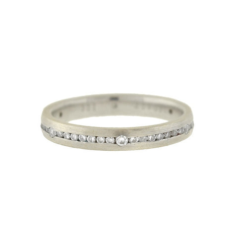 LEGACY Estate 18kt Inlaid Diamond Eternity Band