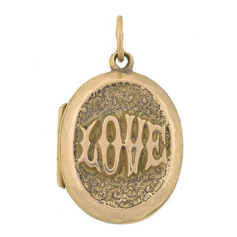 "Victorian 9kt English ""LOVE"" Locket"
