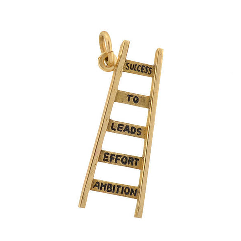"Vintage 14kt Inspirational ""Ladder To Success"" Charm"