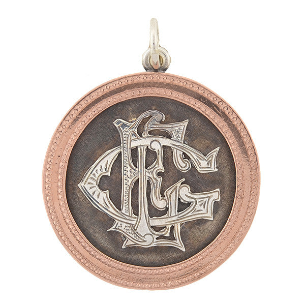 Victorian Lady Liberty Silver Dollar & Rose Gold Coin Pendant