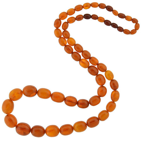 Art Deco Baltic Amber Butterscotch Bead Necklace