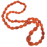 Art Deco Large Carnelian Bead Necklace 26
