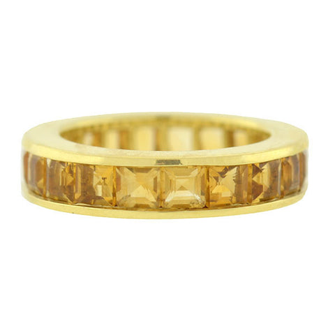 Estate 14kt Citrine Eternity Band