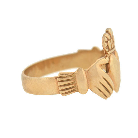 Vintage 9kt Gold Irish Claddagh Ring